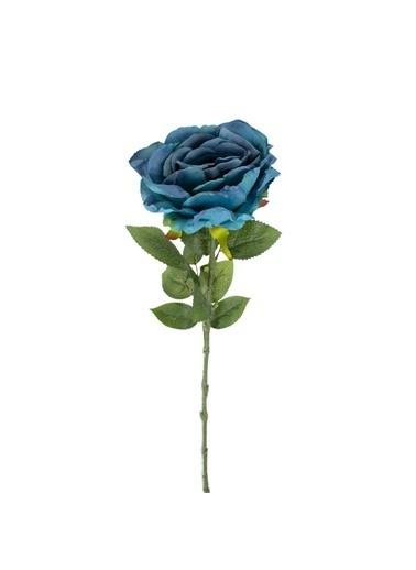 Çiçekmisin Yapay Tek Dal Uzun Gül Mavi